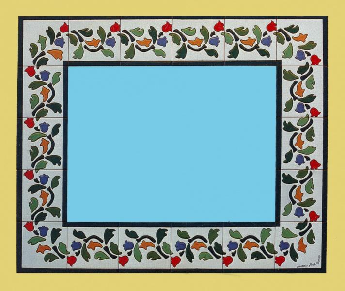 todos los azulejos de los espejos de cermica estn hechos a mano nuestros espejos son ideales para colocar en baos y aseos combinados con azulejos