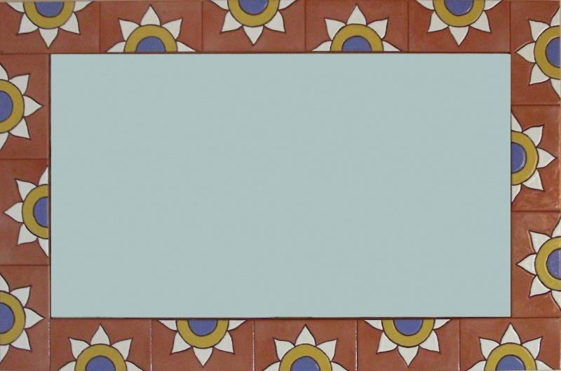Baños Antiguos Barro:Espejos de cerámica pintados a mano MURALES DE CERÁMICA – TILES AND