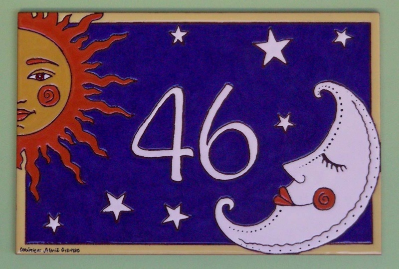 Streets Numbers And Signposting With Ceramic Handmade Glazed Plaques - Ceramic street numbers