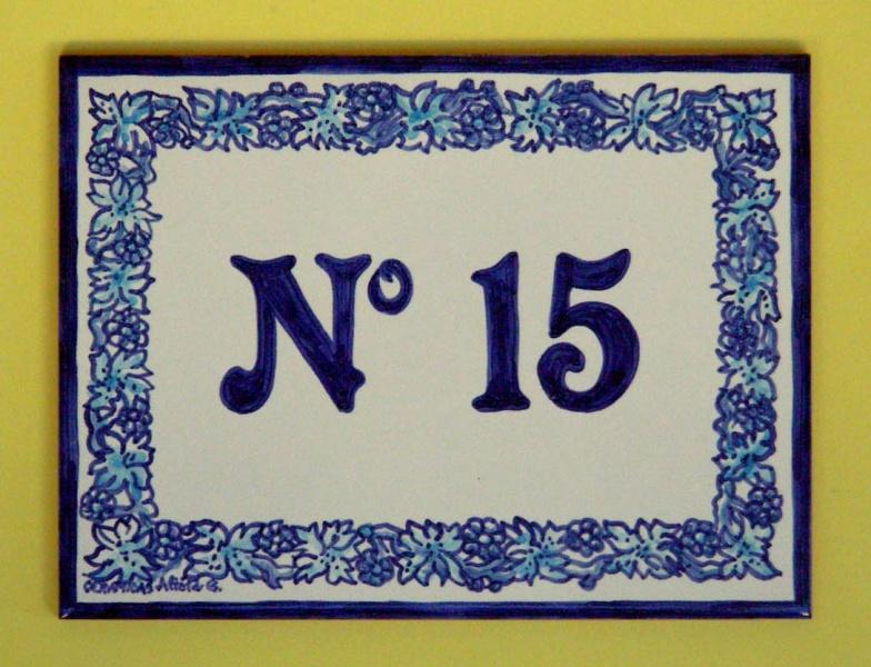 N meros de ceramica para casas murales de cer mica tiles for Azulejo numero casa