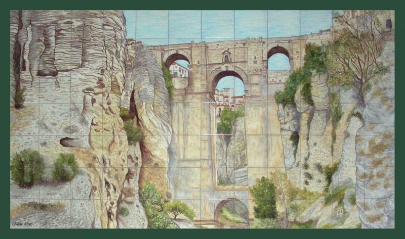Murales de vistas y paisajes murales de cer mica tiles and murals of ceramic - Murales de ceramica ...