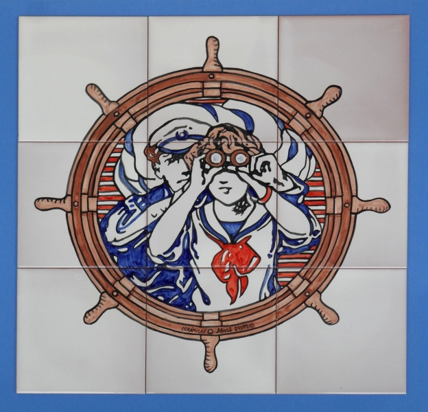Murales cer micos con motivos marinos murales de cer mica for Oxidos para ceramica