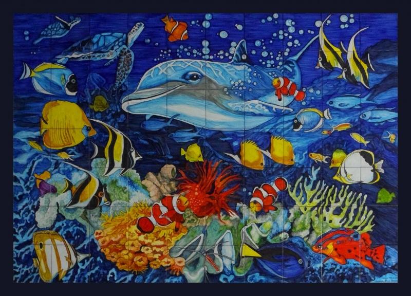 Murales cer micos con motivos marinos murales de cer mica tiles and murals of ceramic - Murales de ceramica ...