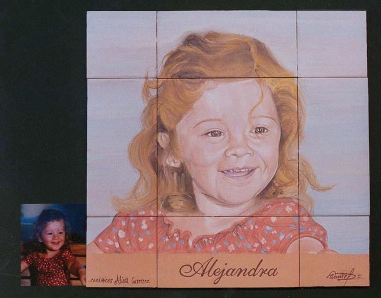 Retratos en cer mica murales de cer mica tiles and - Murales de ceramica artistica ...