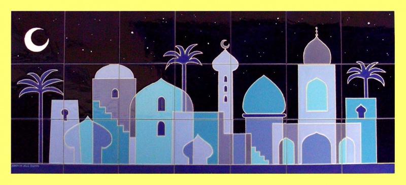 Murales de estilo moderno murales de cer mica tiles and - Azulejos con dibujos ...